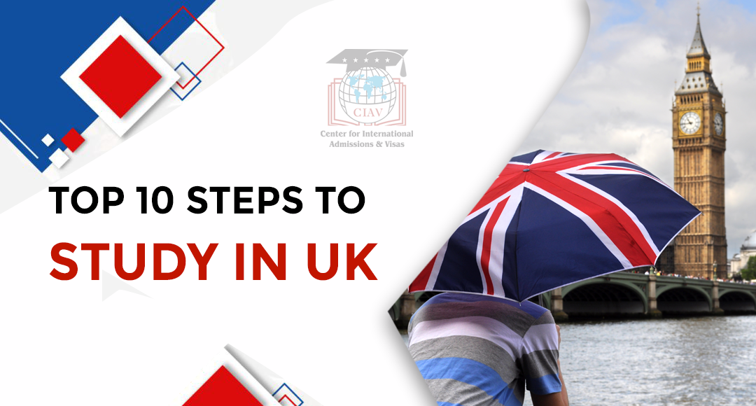 Top 10 steps to study in UK